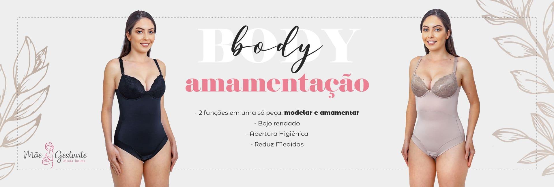 Body Amamentação modelar e amamentar