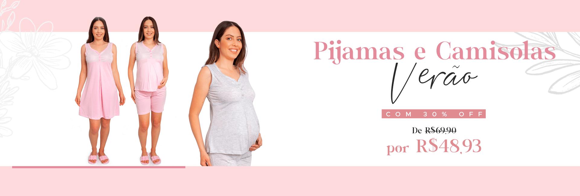 Pijamas e Camisolas verão com 30% Desconto